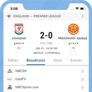 L'application Live Soccer TV