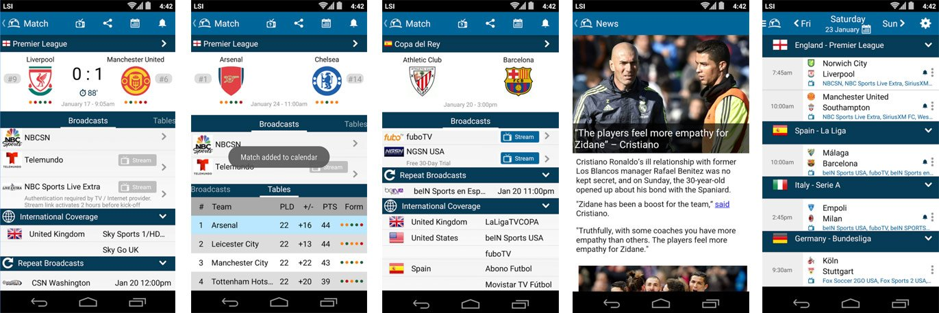 Live Soccer TV App for Android