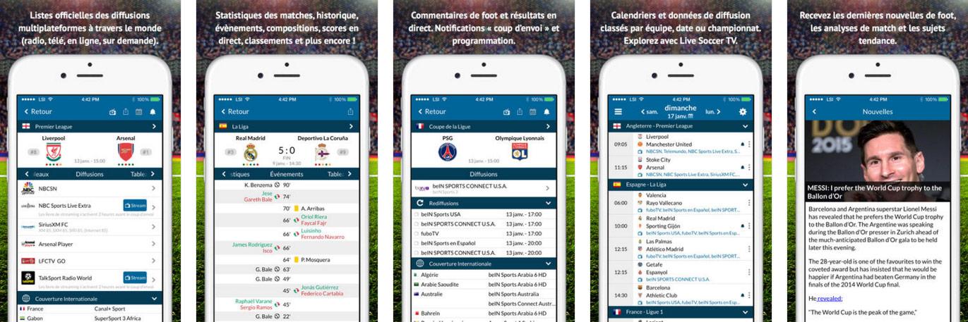 Live Soccer TV App pour iOS