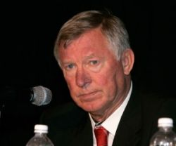 Manchester United's Ferguson was pleased with his team's performance in their last friendly.