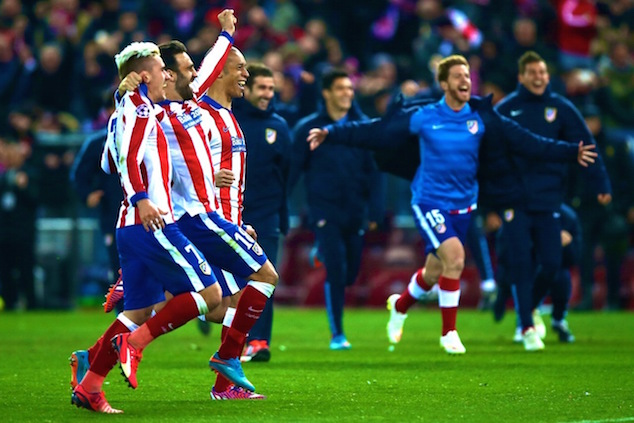 Atletico qualified to the next round via the penalty kicks