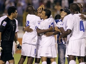 Honduras celebrate their victory
