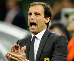 Allegri of Milan. Italian Serie A Matchday 21 - January 19-20, 2013