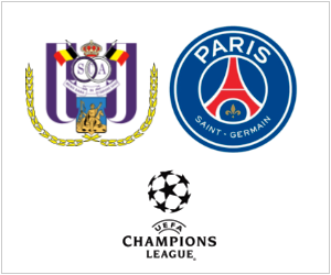 PSG will play Anderlecht in Belgium on October 23, 2013.