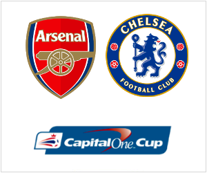Arsenal vs Chelsea is the biggest match of this round in the Capital One Cup