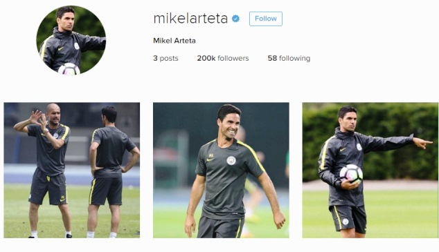 Arteta has deleted all Arsenal-related photos on his Instagram account