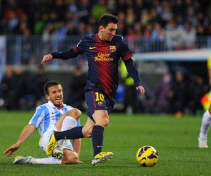 Barcelona will look to bounce back against Malaga in the second leg of the Spanish Copa del Rey quarter-finals.
