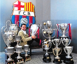 Barcelona have won so many trophies and Xavi can be a proud footballer.