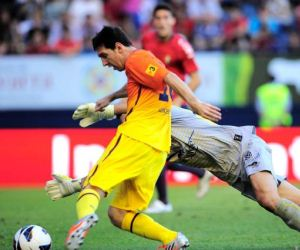 Barcelona vs Valencia live on September 2, 2012.