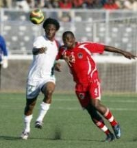 Burkina Faso playing against Malawi in the 2010 Africa Cup of Nations qualifications