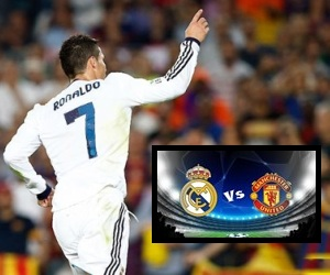 Number 7 star player Cristiano Ronaldo is poised to decide Real Madrid vs Manchester United on Wednesday, February 13, 2013.