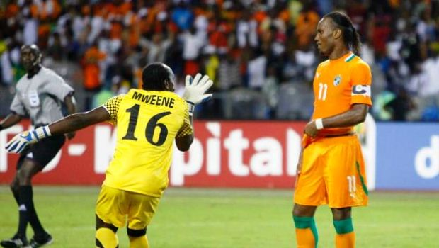 Didier Drogba failed to guide Cote d'Ivoire past Zambia in the 2012 AFCON final.