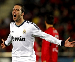 Higuain could lead the attack for Real Madrid against Levante on April 6, 2013.