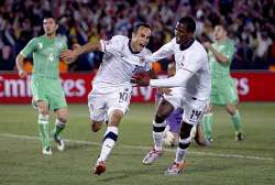 Hero Landon Donovan celebrates.