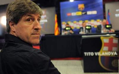 Roura is replacing Tito Vilanova as Barcelona head coach