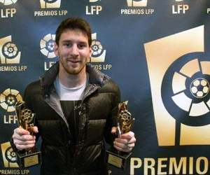 Lionel Messi won two LFP awards on Tuesday, November 13, 2012 as Barcelona and Real Madrid dominated.