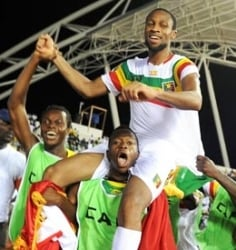 Seydou Keita won the game on penalties for Mali against Gabon in the quarter-finals.