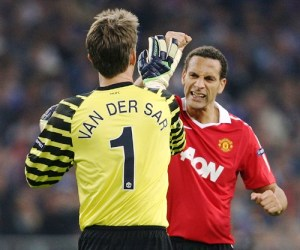 Edwin van der Sar and Rio Ferdinand have contributed in maintaining a strong defence for Manchester United in the 2011 UEFA Champions League.