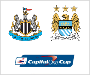 Newcastle United will host Manchester City in the Capital One Cup on October 30, 2013.