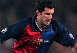 Luis Figo played for Barcelona before moving to bitter rivals Real Madrid.