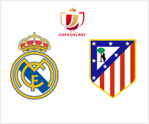 Real Madrid vs Atletico - Copa del Rey match on February 5, 2014