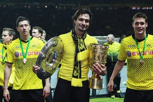 Borussia Dortmund won both the German Bundesliga and the DFB Pokal at Bayern Munchen's expense in 2012.