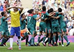 Mexico defeated fierce rivals Brazil to win gold at the London 2012 Olympics on August 11, 2012.