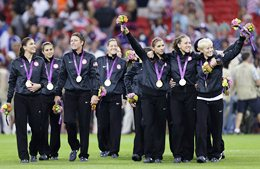 USA won gold at the 2012 Summer Olympic Games after beating Japan on August 9, 2012.