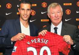 Robin van Persie switched from Arsenal to Manchester United in August 2012.