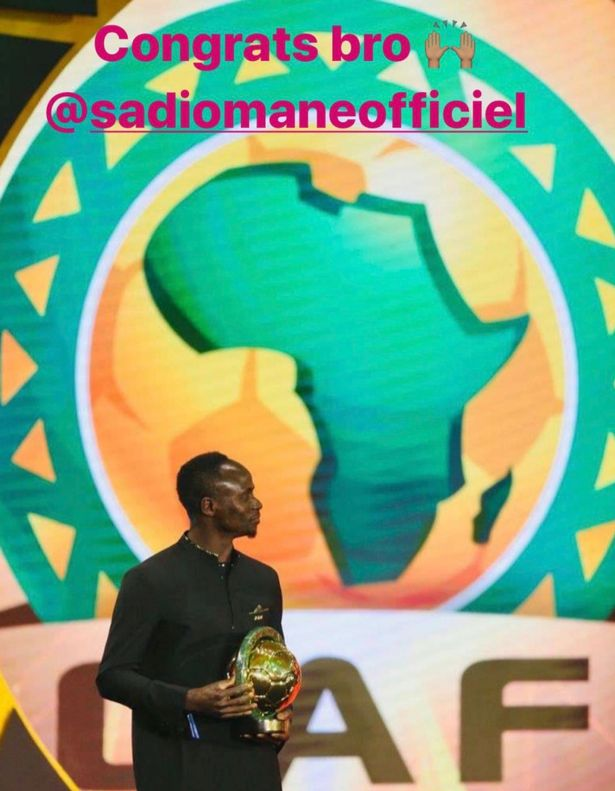 Mohamed Salah, Sadio Mane, CAF Awards