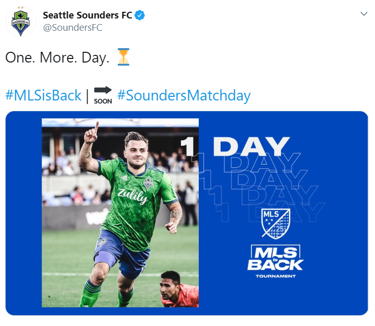 Seattle Sounders, San Jose Earthquakes, MLS is Back Tournament