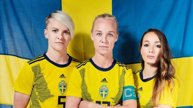This is Sweden's national women's football team players