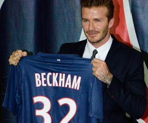 David Beckham signed for PSG on the last day of the January 2013 transfer window.