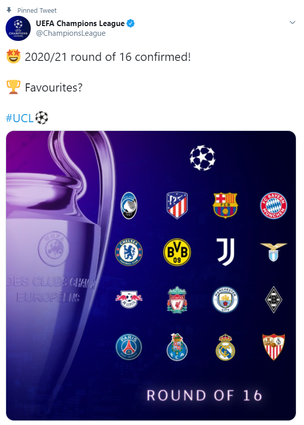 UEFA Champions League, Round of 16, UCL Draw