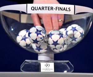 Champions League quarter-final draw on March 21, 2014.