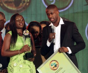 Yaya Toure won the 2012 CAF African Footballer of the Year award on December 20, 2012.