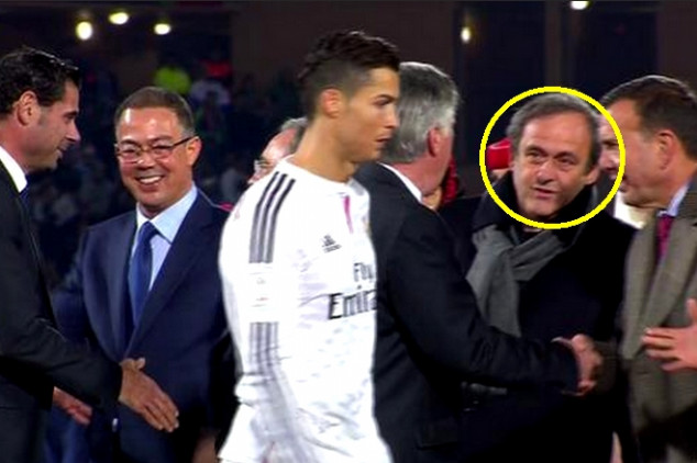 CR7 appears to snub Platini at CWC final