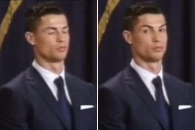 CR7 falls asleep during statue unveiling ceremony