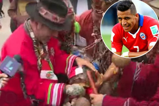 Sanchez cursed by a Peruvian witch doctor