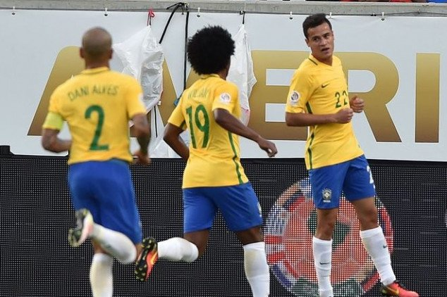 WATCH: Coutinho scores quite a goal for Brazil