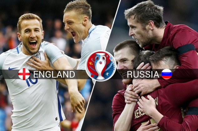 Where to watch England vs Russia live