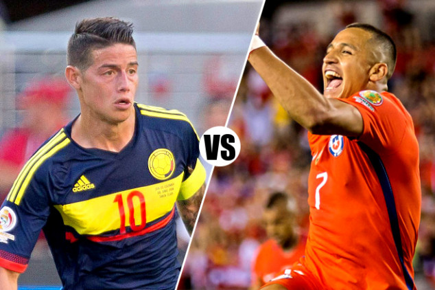 Colombia vs Chile, Live streaming & TV Info