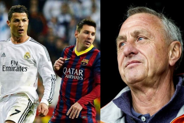 Cruyff snubbed Messi &CR7 in best lineup ever
