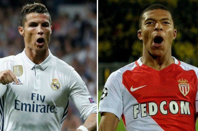 How CR7 compares to Mbappe at 18