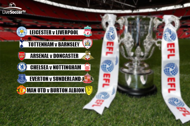 League Cup third found fixtures viewing info