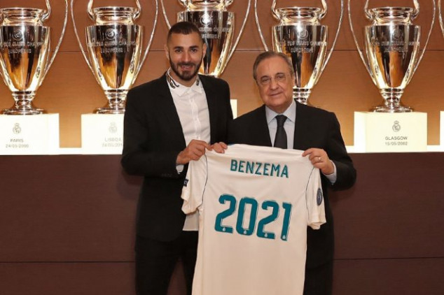 Benzema signs contract extension with R. Madrid