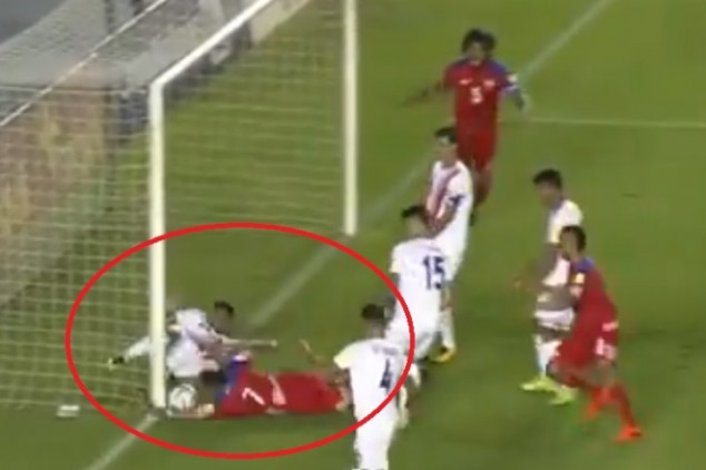Watch: Panama's 1st goal shouldn't have gone up