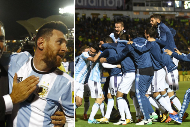 How Argentina players celebrated qualifying