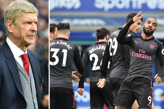 Arsenal set record with 5-2 win over Everton