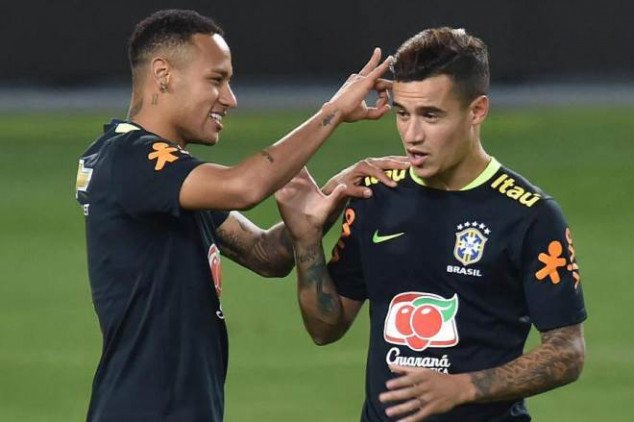 Neymar plotting Coutinho's transfer to PSG